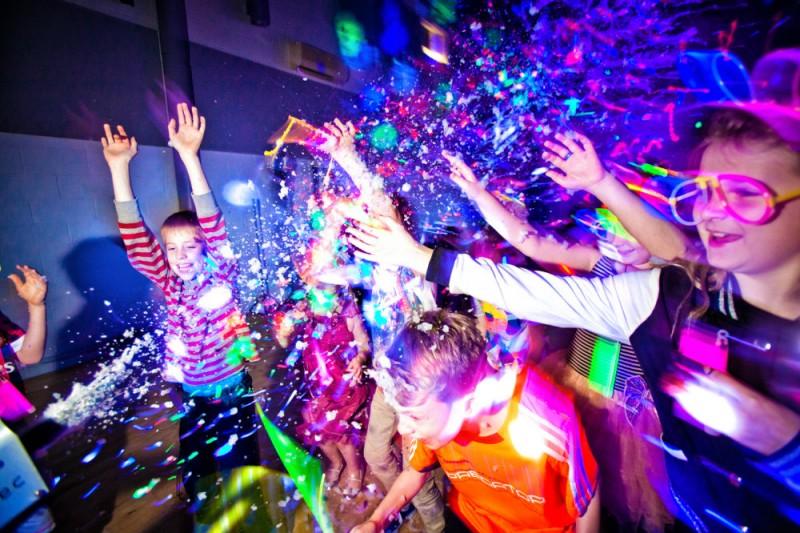 Uv Glow Disco Party Ruby Rainbow