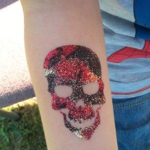 Pirate Skull Glitter Tattoos